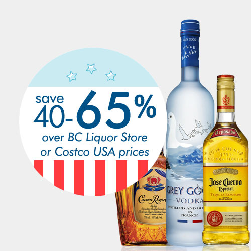 save 40-65% on liquor