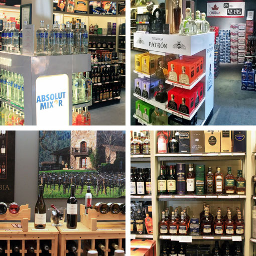 large selection of liquor, wine and beer at great prices